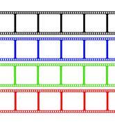 Film Stripe Colors - stock illustration