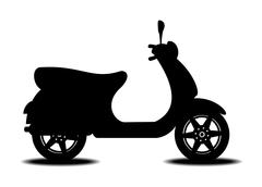 Silhouette of scooter Stock Illustration