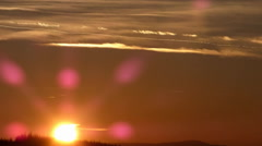 Evening sky sunset timelapse video 960x540 Stock Footage