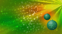 Christmas balls generated seamless loop video 960x540 Stock Footage