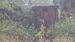 Terrible shed rain storm Stock Footage