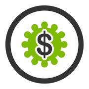 Stock Illustration of Payment options flat eco green and gray colors rounded glyph icon