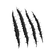 Four vertical trace of monster claw - stock illustration
