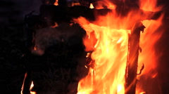 Garbage, fire, flame Stock Footage