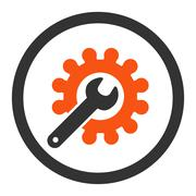 Stock Illustration of Customization flat orange and gray colors rounded glyph icon