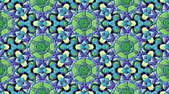 Mosaic kaleidoscopic generated seamless loop Stock Footage