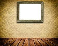 Frame on a wall. Stock Illustration