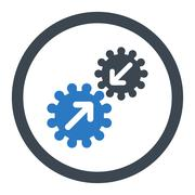 Stock Illustration of Integration flat smooth blue colors rounded glyph icon
