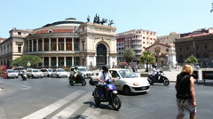 Time Lapse Politeama Garibaldi Theatre Stock Footage