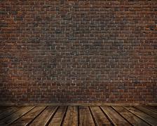 Old bricks wall. - stock illustration