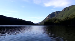 One side view of Buntzen Lake. Stock Footage