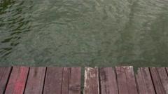Grunge wooden platform - stock footage
