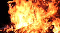 Garbage, fire, flame - stock footage