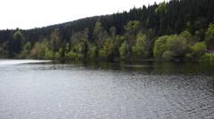 Waves on reservoir Stock Footage