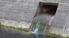 Reservoir Outlet Stock Footage