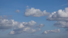 Sky with airplane timelapse Stock Footage