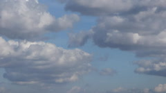 Sky with airplane timelapse video 960x540 Stock Footage