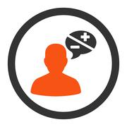 Arguments flat orange and gray colors rounded vector icon Stock Illustration