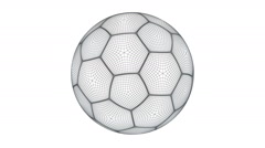 Soccerball. Looping. Alpha channel. Stock Footage