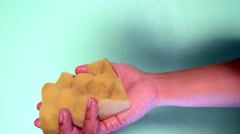 Sponge for clean something Stock Footage