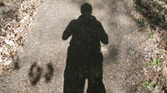 Walking shadow video 960x540 Stock Footage