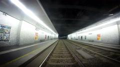 4K Footage: Vienna, Austria. 8.03.2015. The underground tram timelapse. Stock Footage