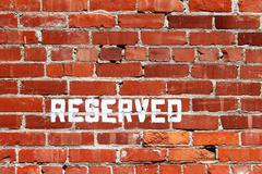 Brick Wall Reserved Stock Photos