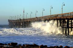 Ocean Wave Storm Pier Kuvituskuvat