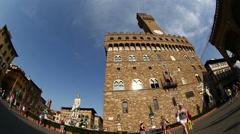 Palazzo Vecchio at Piazza della Signoria Stock Footage