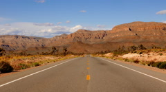Scenery road through Arizona. . Stock Footage
