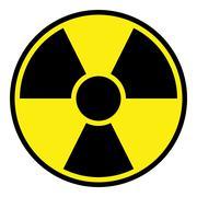 Radiation Warning Sign - stock illustration