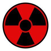 Radiation Warning Sign Stock Illustration