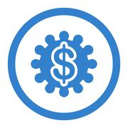 Stock Illustration of Payment options flat cobalt color rounded glyph icon