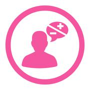 Arguments flat pink color rounded glyph icon Stock Illustration