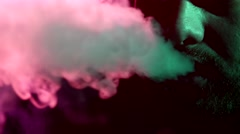 Men smoke from shisha Stock Footage