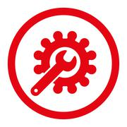Customization flat red color rounded glyph icon - stock illustration