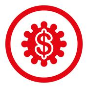 Stock Illustration of Payment options flat red color rounded glyph icon