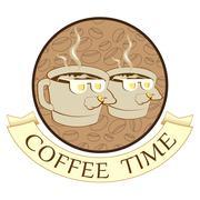 Coffee time, coffee break Stock Illustration