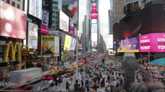 Urban Traffic: Times Square New York - Time-Lapse (Day, HD) Stock Footage