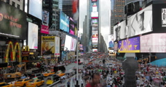 Urban Traffic: Times Square New York - Time-Lapse  (Day, 4k) Stock Footage
