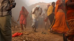Bomb Blast at Rural village - stock footage