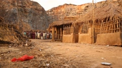Bomb Blast at Rural village Stock Footage
