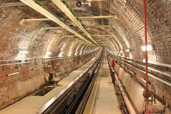 Stock Photo of Old Tunnel Line from Karakoy to Istiklal Street, Istanbul