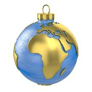 Christmas ball shaped as globe or planet, Africa part - stock illustration