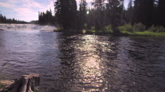 Cave Falls in Yellowstone Stock Footage