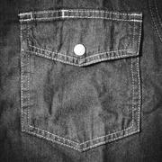 Stock Photo of jean pocket black and white tone color style