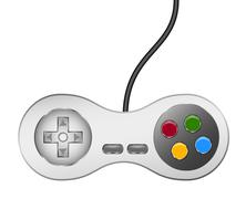 Retro controller (joystick) with usb cable Stock Illustration