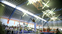 Gymnastic Horizonal Bars. Exercise Training Equipment. Gym. Games. Stock Footage