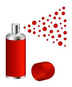 Spray in red design Stock Illustration