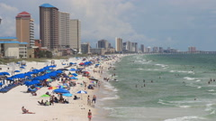 Looking West from The City Pier - Panama City Beach, Florida - stock footage